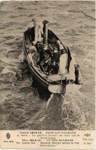 CPA Dans les Balkans, A borrd, Le général Sarrail SHIPS (763937)
