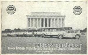 Black and White Sight Seeing Coaches, Washington DC USA Bus Buses, Old Vintag...