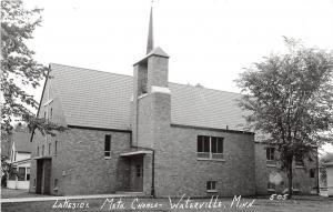 D79/ Waterville Minnesota Photo RPPC Postcard c50s Lakeside Methodist Church