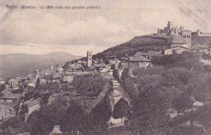 ASSISI, Umbria, Italy, 1900-1910s; La Citta Vista Dai Giardini Pubblici
