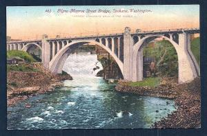 Monroe Street Bridge Spokane Washington unused c1910's