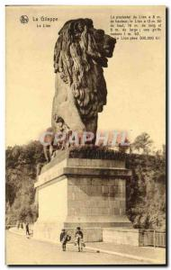 Old Postcard The Lion Gileppe