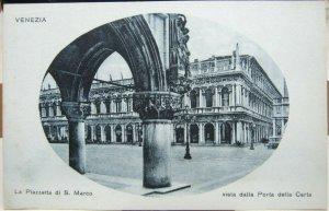 Italy Venezia La Piazzetta di S. Marco vista dalla porta della carta - unposted
