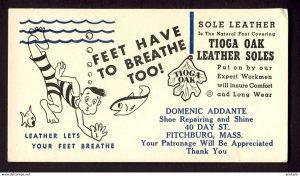 FITCHBURG, MASS. USA Sole leather Tioga Oak Leather soles shoe repair  BLOTTER