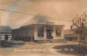Sedgwick ME Buckminster's Store & Post Office Eastern Illustrating RP Postcard