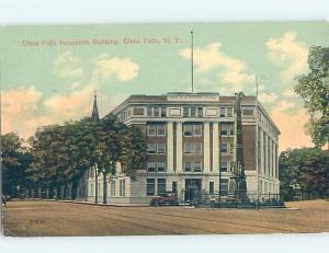 Divided-Back INSURANCE BUILDING Glens Falls - Lake George New York NY G2279