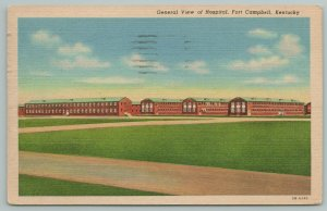 Fort Campbell Kentucky~General View Of Hospital~Vintage Postcard