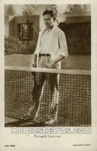 Ronald Colman Tennis Unused small crease left top corner tip, light corner wear