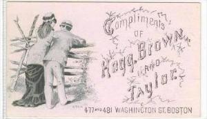 Business Card  Hogg,Brown and Taylor, Washington Street, Boston, Massachusett...