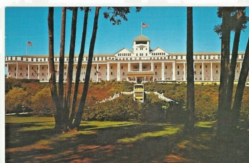 Grand Hotel Mackinac Island, Michigan Longest Porch in World Vintage