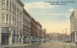 Quebec Canada, du Canada Trois Rivieres, Rue Notre Dame, Notre Dame Street  T...