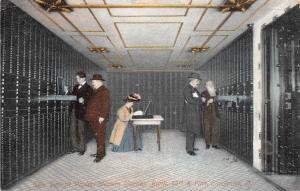 E10/ Cincinnati Ohio Postcard c1910 German Bank Interior Safety Deposit Vaults