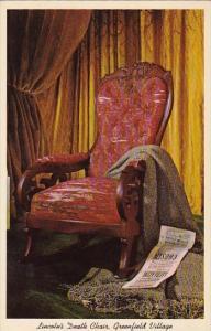 Lincoln Death Chair Greenfield Village Dearborn Michigan