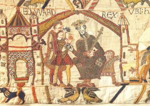 Postcard Bayeux Tapestry, King Edward the Confessor instructs Harold #632