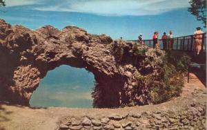 Arch Rock, Mackinac Island, Michigan 1961 unused chrome P...
