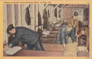 Military Making Up Bunks Camp Edwards Cape Cod Massachusetts 1941