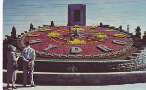 Ontario Hydro Floral Clock, NIAGARA FALLS, Ontario, Canada, 40-60´s