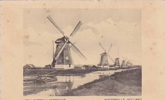 Hollandish Landschap, Watermills, Holland, Netherlands,, 00-10s