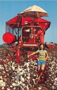 Cotton Mechanical Harvester Miss Maid of Cotton Georgia postcard