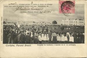 brazil, CURITYBA, Parana, Hospital de Caridade e Quartel do 6 de Artilharia 1904