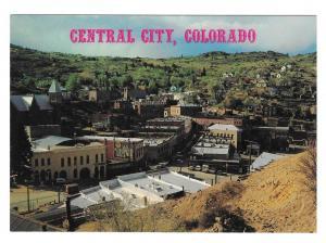 Colorado Central City Gold Rush Birds Eye View Postcard 4X6