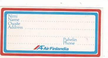 AIR FINLANDIA AIRLINES VINTAGE AVIATION LABEL