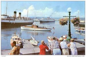 Victoria Inner Harbor Steamers BC Canada, 40-60s