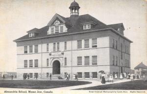 Moose Jaw Saskatchewan~Alexandria School~Teacher & Children Outside~1908 B&W PC