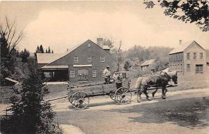 6799 VT Weston   Vermont Guild Museum and Mill Buildings, Horse and Wagon