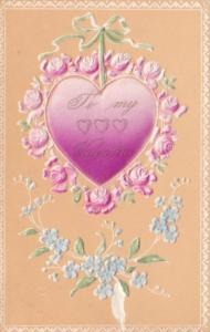 Valentine's Day Beautiful Purple Heart & Pink Roses