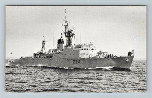 Canada, Royal Canadian Navy, Algonquin Class Destroyer Escort, Chrome Postcard