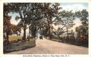 Along State Highway Rock Hill, New York Postcard