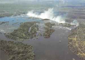 Zimbabwe The Zambezi River flowing Placidly Between Wooded Islands