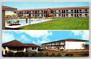 Roseville California~Best Western Roseville Inn Motel~1970s Cars~Station Wagon