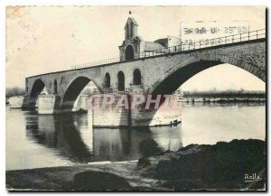 Postcard Modern Avignon Pont d'Avignon (XII century) and the Saint Nicolas ch...