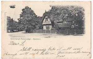 London; Greenwich Park Lodge, Summer PPC, BY PS&V Of Lewisham, 1903 PMK