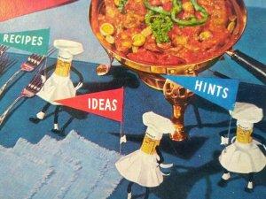 Mr Peanut Planters Original 1955 Cookbook Mister Nut In Chefs Hat Apron Vintage