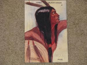 Chief Blackhawk by H.H. Tammen, 1909, used vintage card