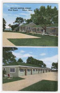 Bryan Motor Court Motel Biloxi Mississippi postcard