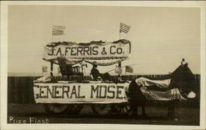 Prize Parade Float J.A. Ferris & Co Real Photo Postcard POSSIBLY EASTPORT ME