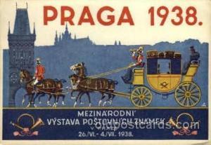 Praga 1938Larger Postcard Approx 4 x 5 1/2  Praga 1938