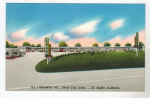 3089  IL St.Elmo 1960's  Waldorf Motel & Steak House  Restaurant