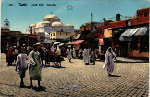 CPA AK TUNIS Place Bab Souika TUNISIE (747866)