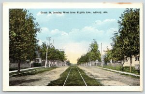 Albany Alabama~Grant Street Homes from 8th Avenue~Trolley Tracks~Dirt Road~1920s