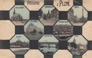 Pozdrau z Plzne , Czech Republic , 1909