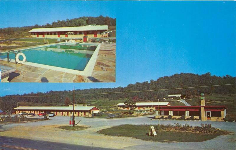 Chattanooga Tennessee~Rancho Motel~Hwy 41~Swimming Pool~1950s Roadside