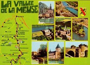 La Vallee De La Meuse French Map Postcard