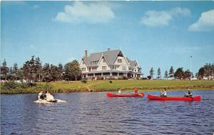 Prince Edward Island Canada~Canoeing by Dalvay Hotel @ National Park~1950s Pc