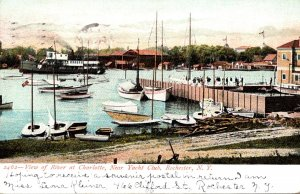New York Rochester View Of River At Charlotte Near Yacht Club 1906