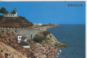 Postal 007466 : Faro y playa de Calella, Barcelona